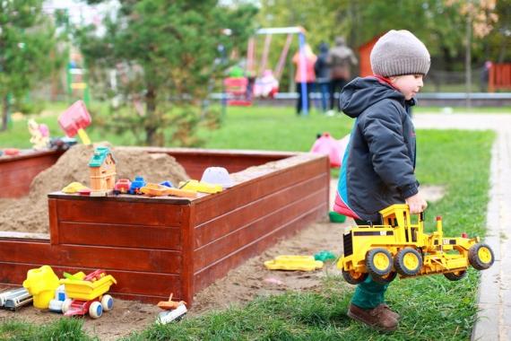 Территория частного детского сада
