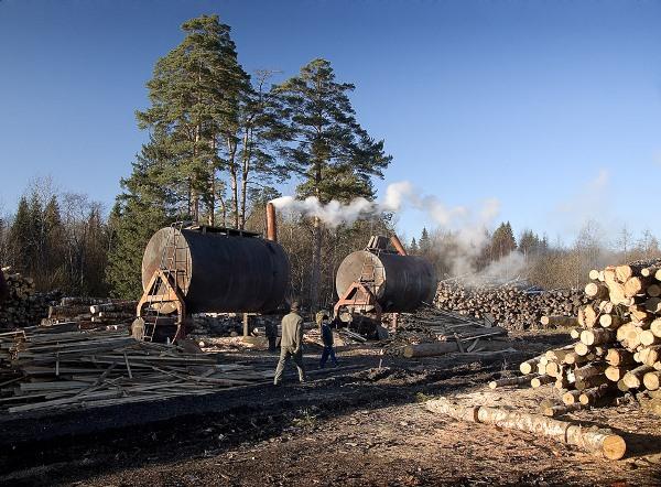 Оборудование цеха по производству древесного угля