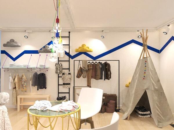 Дизайн помещения для шоу рума одежды